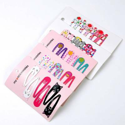 """6PCS 2"""" Hair Clips Snaps Hairpin Girls Baby Kids Hair Bow Accessories  Decor-"""