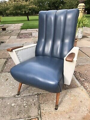 Original Mid Century Art Deco Vintage French Paris Club Lounge Arm Chair