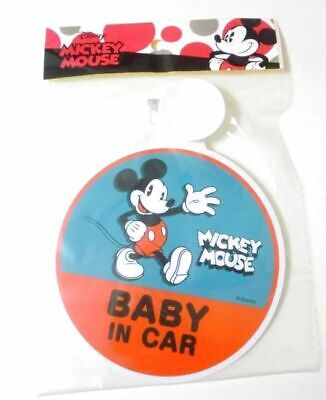 Disney Mickey Mouse Baby Safety Car Sign Blue Red Brand New