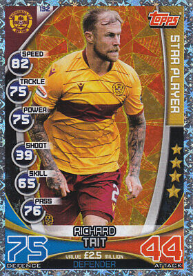TOPPS MATCH ATTAX SPFL 2019-20 - Richard Tait - Motherwell - # 132 - STAR PLAYER