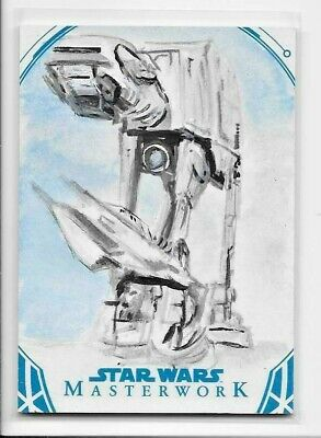 2018 Topps Star Wars Masterwork SKETCH CARD by Solly Mohamed - AT-AT Walker