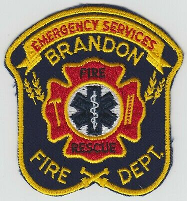 Brandon Fire Dept. Emergency Services Fire Rescue Patch, Manitoba