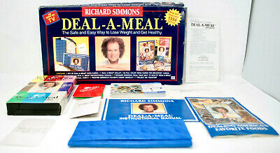 Richard Simmons DEAL A MEAL Healthy Weight Loss Set 1994 COMPLETE