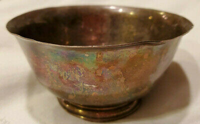 Vtg Sterling Silver Paul Revere Bowl by Stieff 163.45g Scrap or Use