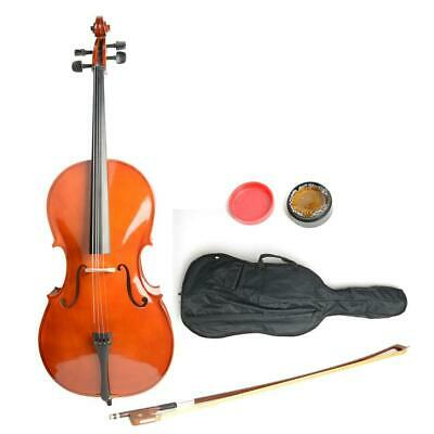 4/4 Size Top Professional Basswood Acoustic Cello +Bag+ Bow+ Rosin+ Bridge