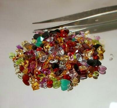 100+ Carat Mix Lot Loose Faceted Natural Gemstones Mixed Gem Wholesale Gemstones