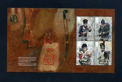 GB 2015 Booklet pane BATTLE OF WATERLOO  SG 3730a  MNH / UMM FV£4.06