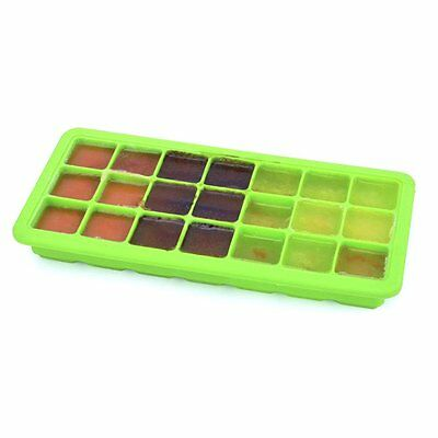 Baby Weaning Food Freezing Cubes Tray Freezer Storage Safety Silicone Green WH3