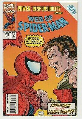 Web of Spider-Man (1985 1st Series) #117 NM Newsstand Direct Low Print Unread