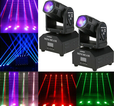 2 PACK 50W LED RGBW Moving Head Stage Light DMX Disco Party Effect Light K9W0