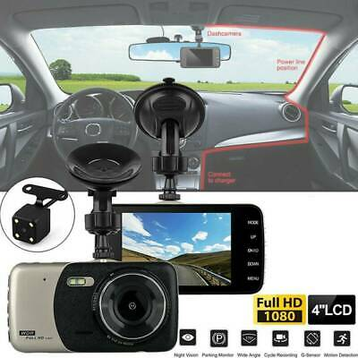 4'' HD 1080P Dual Lens Car DVR Front and Rear Camera Video Dash Cam Recorder*