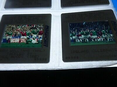 RUGBY UNION 1999 WALES v IRELAND BIG COLLECTION ORIGINAL 35mm COLOUR SLIDES