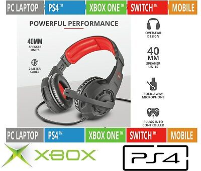 CUFFIE GAMING CON MICROFONO Trust JAWW GXT4310 PER PC XBOX ONE PS4 SWITCH