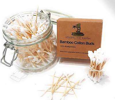 800 4 Boxes Bamboo Cotton Buds | Cotton Swabs Made from Organically Grown Bamboo
