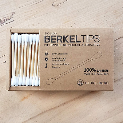 Bamboo Cotton Buds 4 Pack 4 x 200 Items Antibacterial 100% Biodegradable Super