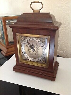 Mappin and Webb Elliot of London Walnut and Burr Mantel Clock