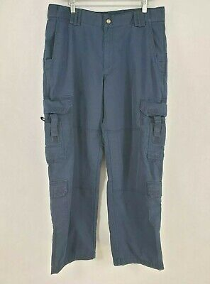5.11 Tactical Series Utility Cargo Pants Mens Sz 36x30 Blue Gusseted (aa2)