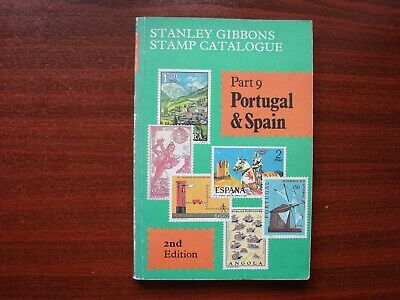 Stanley Gibbons vintage stamp catalogue No 9 Portugal & Spain 2nd edition 1984