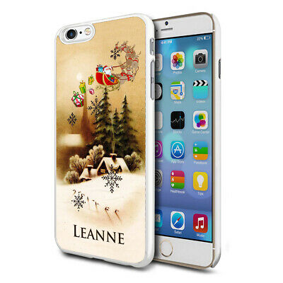Personalised Xmas Christmas Phone Case Cover for Apple Samsung Initial Name - 76