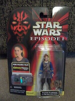 """Star Wars Episode 1 TPM Padme' Naberrie with Pod Race Screen """"Brand New"""""""