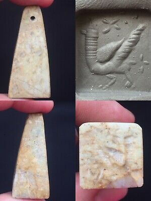Medieval rare wonderful big bird intaglio seal stamp
