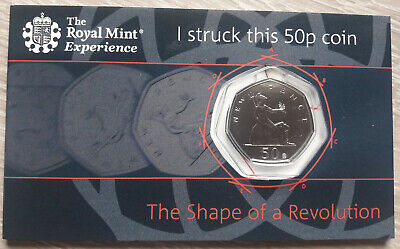 Royal Mint Strike Your Own, 50 Years Of The 50p Anniversary Coin 2019