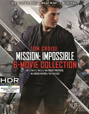 MISSION IMPOSSIBLE 6 MOVIE COLLECTION New 4K Ultra HD UHD + Blu-ray 1 2 3 4 5 6
