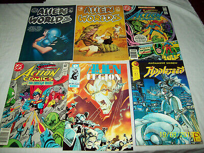 66 Comic Lot Cheval Noir Titans Action Detective Watchmen Swamp Thing Alien I