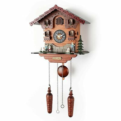 Polaris Clocks Small Cuckoo Wall Clock with Night Mode Option, Singing Bird, ...