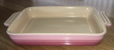 Le Creuset Berry Pink Ombre Stoneware Rectangular Baking Dish 1.3L