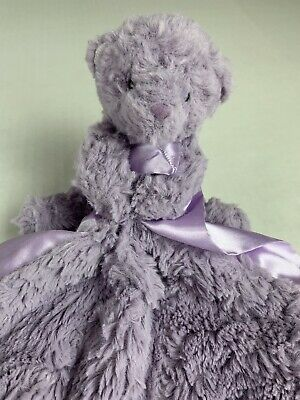 Jellycat Bear Purple Soother Lovey Security Blanket Baby Plush