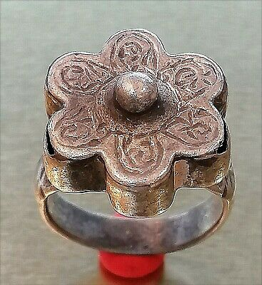 Scarce ANCIENT ANTIQUE Islamic Silver RING