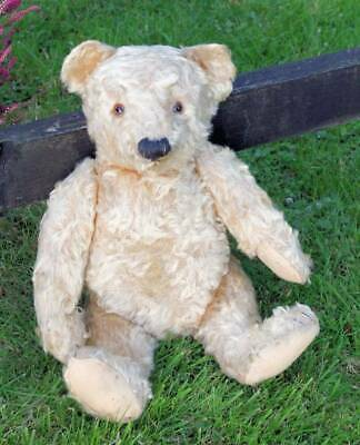 LARGE ANTIQUE, VERY OLD MOHAIR STEIFF BEAR, VINTAGE c.LATE 1940'S -1950's, 20""