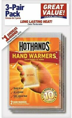 10 - 3 Packs HotHands Hand Warmers Air Activated Up To10 Hours of Heat 30 Pairs