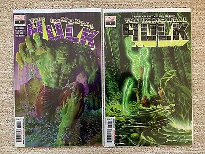 The Immortal Hulk #1 - 2 : 1st prints dr Frye Marvel Comics