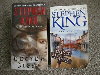 Lot 2 Stephen King Horror Novels Doctor Sleep & Hearts In Atlantis paperback