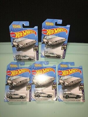 Lot Of(5)Back To The Future Time Machine-Hover Mode Hot Wheels,1 Super Treasure!