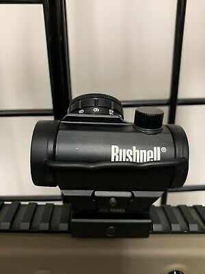 Bushnell Trophy TRS-25 1x25mm Red Dot Sight - Black With Riser Included As Pic