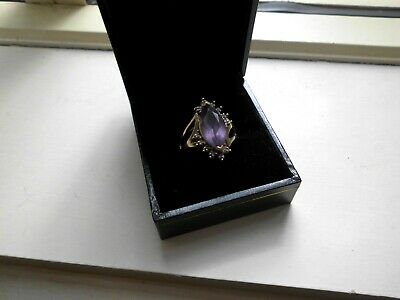 Amethyst and Diamond Ring size 0 as New