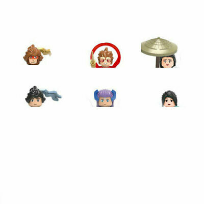 6pcs/set Chinese Ancient Monkey King Building Blocks Bricks Cute Children Toys