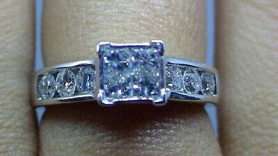14ct Solid White Gold Diamond Engagement Ring Michael Hill TDW 1.50ct!