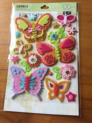 Felt Stickers Dec Photo Corners Anna Griffin Ribbon Embellishments Scrapbooking