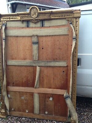 Large gold mirror frame antique design louis xv rococo style believe