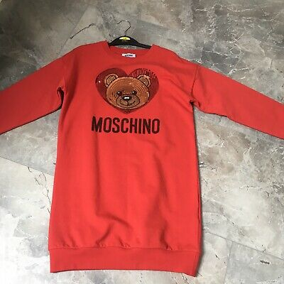 Moschino Jumper Dress Red Age 10 Worn Once Look