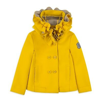 Monnalisa Yellow Coat 2018 Age 9 Worn Once Look!