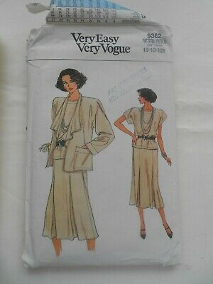 Very Easy Very Vogue Sewing Pattern 9362 8 - 12 Seperates