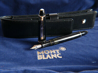 Vintage  MONTBLANC 142 MASTERPIECE F with MONTBLAN  LEATHER CASE