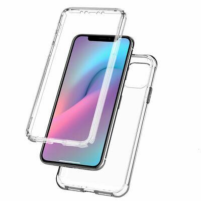 Clear Case For iPhone 11 Pro XS Max XR X 8 7 Plus 360 Cover Silicone Shockproof
