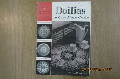 Vintage Doilies/ Mat Pattern Book Crochet, Coats Yarn, 10 Patterns Included