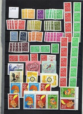 EB504 - France 2005 LOT  timbres neufs (120) pour collection ou affranchissement